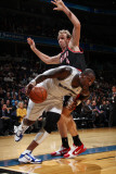 Portland Trail Blazers v Washington Wizards: Andray Blatche and Sean Marks Photographic Print by Ned Dishman