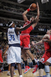 Chicago Bulls v Dallas Mavericks: Joakim Noah and Brendan Haywood Photographic Print by Glenn James