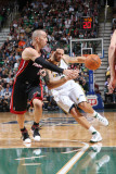 Miami Heat v Utah Jazz: Deron Williams and Carlos Arroyo Photographic Print by Melissa Majchrzak