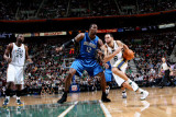 Orlando Magic v Utah Jazz: Deron Williams and Dwight Howard Photographic Print by Melissa Majchrzak