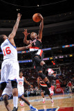 Portland Trail Blazers v Philadelphia 76ers: Armon Johnson and Marreese Speights Photographic Print by Jesse D. Garrabrant