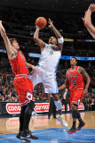 Chicago Bulls v Denver Nuggets: J.R. Smith and Kyle Korver Photographic Print by Garrett Ellwood