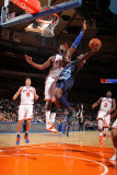 Denver Nuggets v New York Knicks: Ty Lawson and Ronny Turiaf Photographic Print by Nathaniel S. Butler