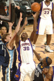 Memphis Grizzlies v Phoenix Suns: Earl Barron and Marc Gasol Photographic Print by Barry Gossage
