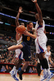 Utah Jazz v Los Angeles Clippers: Deron Williams, Al-Farouq Aminu and DeAndre Jordan Photographic Print by Noah Graham