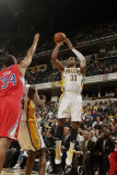 Los Angeles Clippers v Indiana Pacers: Danny Granger and Brian Cook Photographic Print by Ron Hoskins