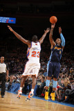 Denver Nuggets v New York Knicks: J.R. Smith and Toney Douglas Photographic Print by Nathaniel S. Butler