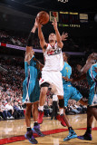 New Orleans Hornets v Portland Trail Blazers: David West and Brandon Roy Photographic Print by Sam Forencich