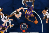 Los Angeles Lakers v Memphis Grizzlies: Kobe Bryant, Rudy Gay, Marc Gasol and Xavier Henry Photographic Print by Joe Murphy