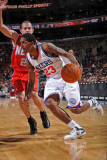 New Jersey Nets v Philadelphia 76ers: Lou Williams and Jordan Farmar Photographic Print by Jesse D. Garrabrant