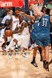 Minnesota Timberwolves v Charlotte Bobcats: Sherron Collins Photographic Print by Kent Smith