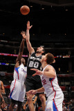 San Antonio Spurs v Los Angeles Clippers: Manu Ginobili, Eric Bledsoe and Blake Griffin Photographic Print by Noah Graham