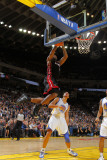 Miami Heat v Golden State Warriors: Lebron James and Dan Gadzuric Photographic Print by Rocky Widner