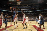 Washington Wizards v Toronto Raptors: Andray Blatche and Amir Johnson Photographic Print by Ron Turenne