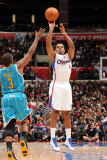 New Orleans Hornets v Los Angeles Clippers: Randy Foye and Chris Paul Photographic Print by Noah Graham