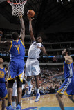Golden State Warriors v Dallas Mavericks: Ian Mahinmi and Dorrell Wright Photographic Print by Glenn James