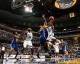 Golden State Warriors v Memphis Grizzlies: Mike Conely and Andris Biedrins Photographic Print by Joe Murphy