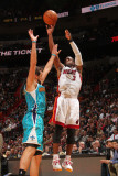 New Orleans Hornets v Miami Heat: Dwyane Wade and Marco Belinelli Photographic Print by Victor Baldizon