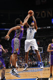 Phoenix Suns v Orlando Magic: Rashard Lewis and Josh Childress Photographic Print by Fernando Medina