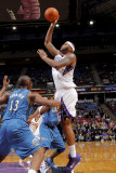 Washington Wizards v Sacramento Kings: DeMarcus Cousins and Kevin Seraphin Photographic Print by Rocky Widner