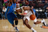 Texas Legends v Idaho Stampede: DeSean Hadley and Justin Dentmon Photographic Print by Otto Kitsinger