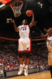 Charlotte Bobcats v Miami Heat: Udonis Haslem Photographic Print by Victor Baldizon