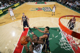 Indiana Pacers v Milwaukee Bucks: Luc Richard Mbah a Moute and Danny Granger Photographic Print by Gary Dineen