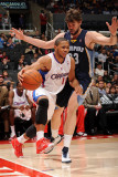 Memphis Grizzlies v Los Angeles Clippers: Eric Gordon and Marc Gasol Photographic Print by Noah Graham