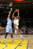 Denver Nuggets v Golden State Warriors: Reggie Williams and Nene Photographic Print by Rocky Widner
