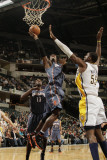 Charlotte Bobcats v Indiana Pacers: Gerald Wallace and Roy Hibbert Photographic Print by Ron Hoskins
