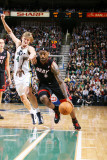 Miami Heat v Utah Jazz: LeBron James and Andrei Kirilenko Photographic Print by Melissa Majchrzak