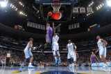 Phoenix Suns v Denver Nuggets: Gary Forbes and Hakim Warrick Photographic Print by Garrett Ellwood