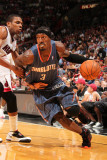 Charlotte Bobcats v Miami Heat: Gerald Wallace and James Jones Photographic Print by Victor Baldizon