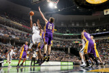 Los Angeles Lakers v Memphis Grizzlies: Rudy Gay and Pau Gasol Photographic Print by Joe Murphy