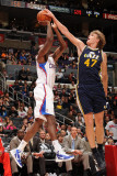 Utah Jazz v Los Angeles Clippers: Al-Farouq Aminu and Andrei Kirilenko Photographie par Noah Graham