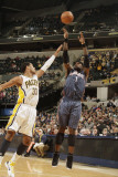 Charlotte Bobcats v Indiana Pacers: Stephen Jackson and Danny Granger Photographie par Ron Hoskins