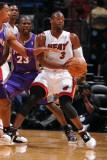 Phoenix Suns v Miami Heat: Dwyane Wade and Jason Richardson Photographic Print by Andrew Bernstein