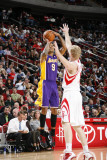 Los Angeles Lakers v Houston Rockets: Matt Barnes and Chase Budinger Photographic Print by Bill Baptist