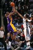 Los Angeles Lakers v Memphis Grizzlies: Kobe Bryant and O.J. Mayo Photographic Print by Joe Murphy