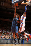 Minnesota Timberwolves v New York Knicks: Ronny Turiaf and Wayne Ellington Photographic Print by Nathaniel S. Butler