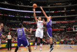 Sacramento Kings v Los Angeles Clippers: Eric Gordon and Francisco Garcia Photographic Print by Noah Graham
