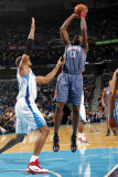 Charlotte Bobcats v New Orleans Hornets: Nazr Mohammed and David West Photographic Print by Layne Murdoch