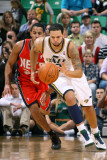 New Jersey Nets v Utah Jazz: Deron Williams and Devin Harris Photographic Print by Melissa Majchrzak