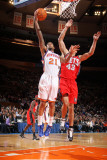 New Jersey Nets v New York Knicks: Wilson Chandler and Kris Humphries Photographic Print by Nathaniel S. Butler