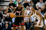 Miami Heat v Utah Jazz: LeBron James and C.J. Miles Photographic Print by Melissa Majchrzak