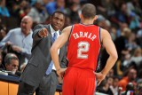 New Jersey Nets v Denver Nuggets: Avery Johnson and Jordan Farmar Photographic Print by Garrett Ellwood