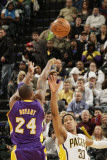Los Angeles Lakers v Indiana Pacers: Kobe Bryant and Danny Granger Photographic Print by Ron Hoskins