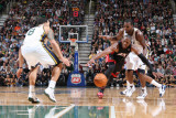 Miami Heat v Utah Jazz: Paul Millsap and Dwyane Wade Photographic Print by Melissa Majchrzak