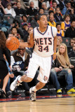 Los Angeles Lakers v New Jersey Nets: Devin Harris Photographic Print by Andrew Bernstein