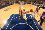 Los Angeles Lakers v Indiana Pacers: T. J. Ford and Steve Blake Photographic Print by Ron Hoskins
